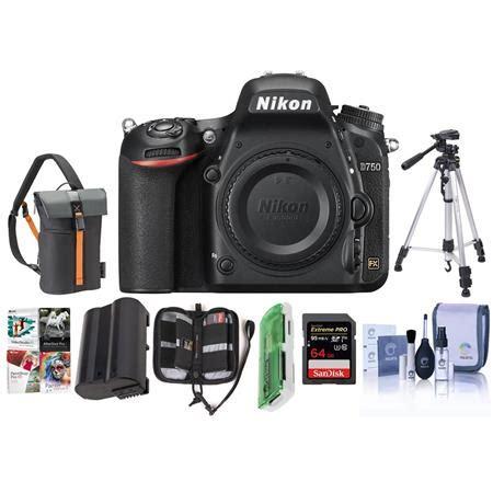 nikon d750 fx format digital slr body only camera with