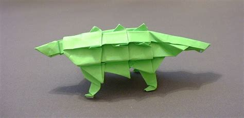 Origami Ankylosaurus - ankylosaurus fernando gilgado gomez gilad s origami page