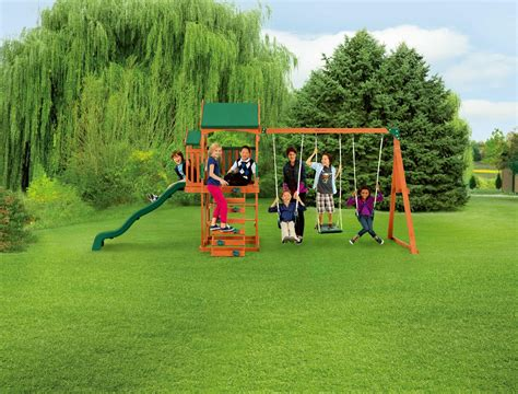 Play Swing Sportspower Timber Play Ii With Balcony Swing Set Shop