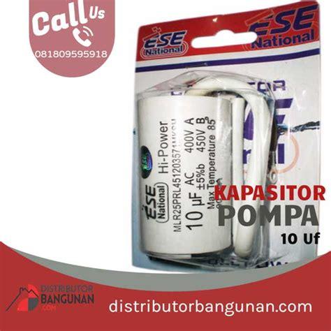 Kapasitor Pompa Air 5 Uf Sparepart Mesin Pompa Air 5 Uf kapasitor bulat 10uf efos ne blister distributor pipa pvc perlengkapan air