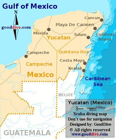 map of mexico yucatan peninsula yucatan map gooddive