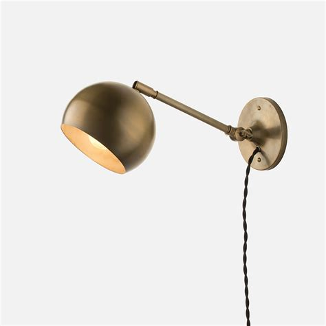 Sconce Lighting With Cord Isaac Sconce Brass Arm Wall Sconce Fixtures