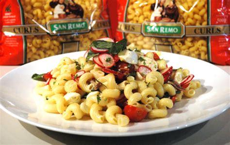 garden vegetable pasta salad garden vegetable pasta salad with smoked bocconcini san remo