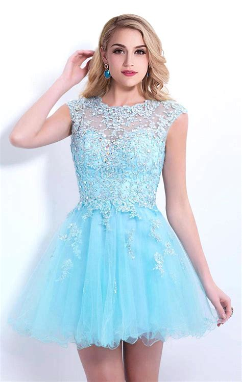 get cheap light blue homecoming dresses