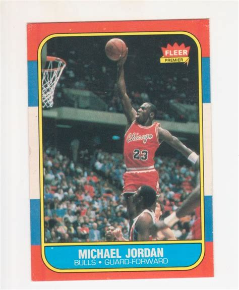 86 87 Fleer Basketball Card Template Photoshop by Lot Detail Michael 1986 87 Fleer Basketball Card
