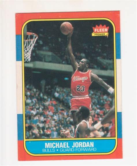 86 87 fleer basketball card template photoshop lot detail michael 1986 87 fleer basketball card