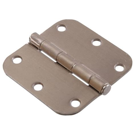 satin nickel hinges everbilt 3 1 2 in x 1 4 in radius satin nickel door