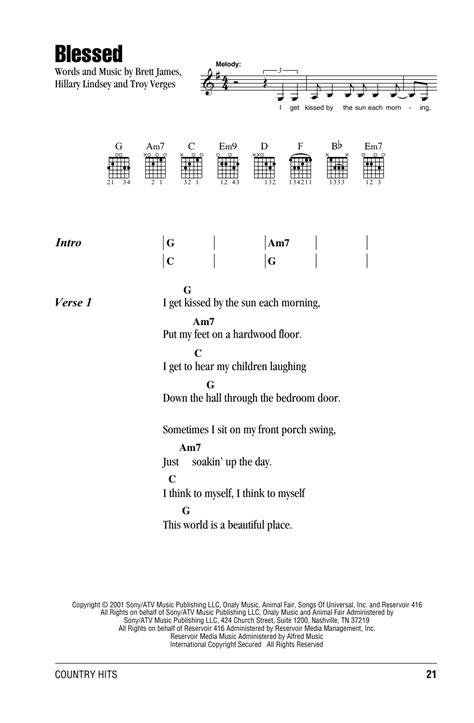 my lyrics and chords by martina mcbride blessed by martina mcbride guitar chords lyrics guitar