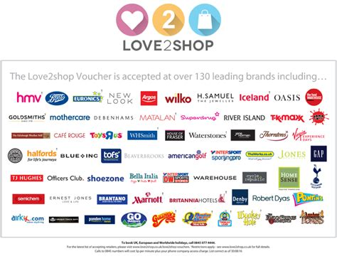Love To Shop Gift Cards Uk - image gallery love2shop
