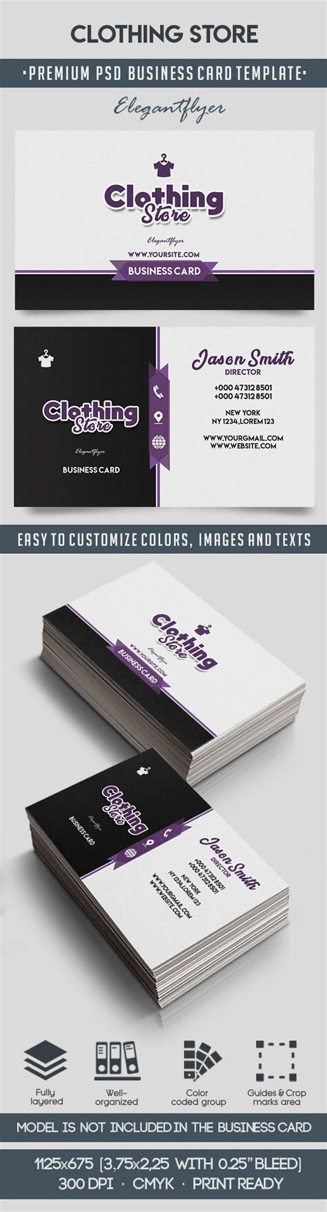 boutique business card psd template clothing store business card templates psd by elegantflyer