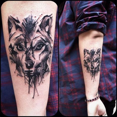 iron wolf tattoo line work golden iron studio downtown toronto