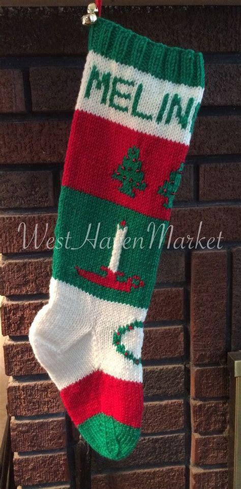 knitting pattern for christmas tree stocking candle and christmas trees stocking pattern this listing