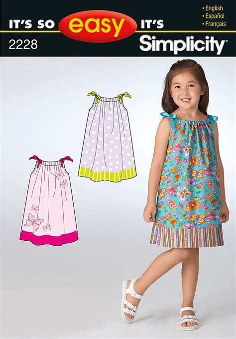 simple pattern for little girl dress simplicity 2228 it s so easy child s dresses