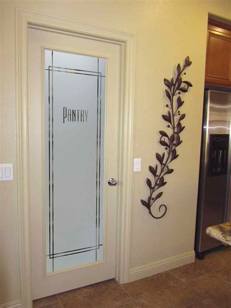 terrific frosted glass pantry door decorating ideas