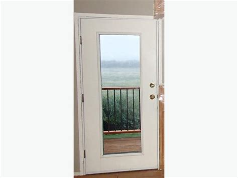 Pre Hung Exterior Door Pre Hung White Metal Exterior Door W Glass Duncan Cowichan
