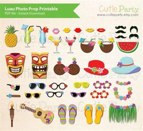 printable hawaiian photo booth props luau photo booth prop hawaiian party photo booth prop