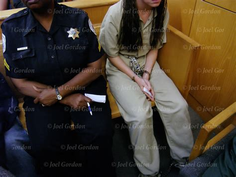 Handcuffed On Way To Court by In Jumpsuit Handcuffed In Juvenile Court Joel