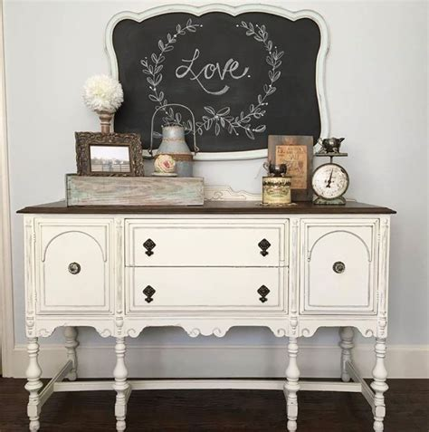 chalk paint white best 20 refinished buffet ideas on