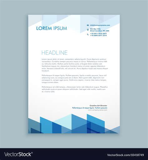modern letterhead template royalty vector image