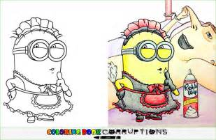 despicable coloring book corruptions