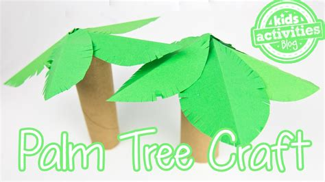 rolled paper palm trees palm tree toilet paper roll craft