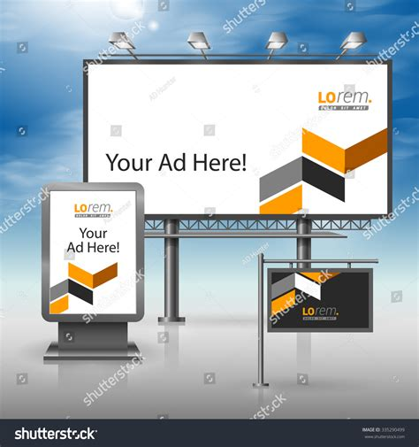advertising layout elements classic black outdoor advertising design corporate stock