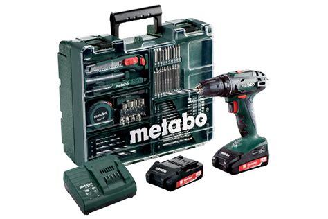 Bor Metabo bs 18 set 602207880 batteri bor skrutrekkere metabo