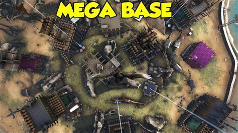 ark motorboat base mega base official 1 ark survival evolved youtube