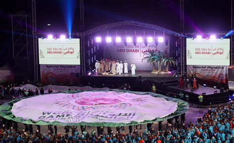flag   special olympics world games handed   uae emirates