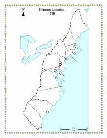 blank us map 13 colonies original 13 colonies blank map