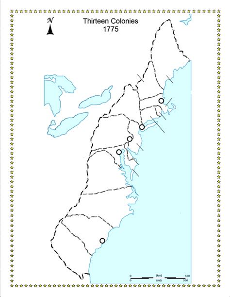 thirteen colonies map free coloring pages of 13 colonies map