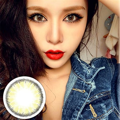 colored contact big eye circle colored contact lenses contacts color container