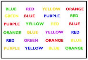 color word test automatic processing test why don t students like school