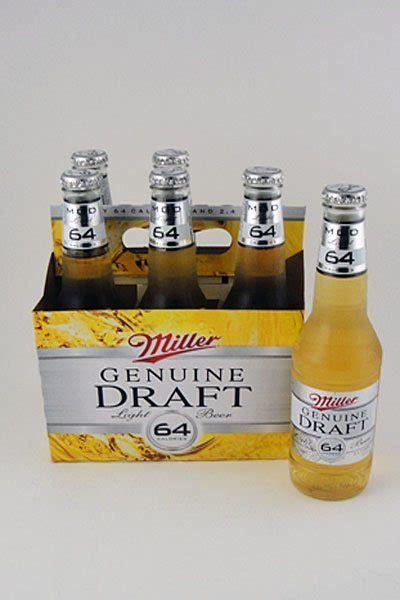 miller genuine draft light miller genuine draft 64 light 6 pack colonial spirits