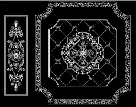 floor pattern cad block classical marble medallion floor design water jet cutting