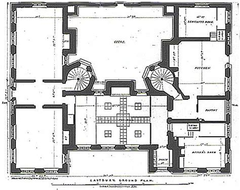 The Servant S Quarters In 19th Century Country Houses Like House Plans With Servants Quarters
