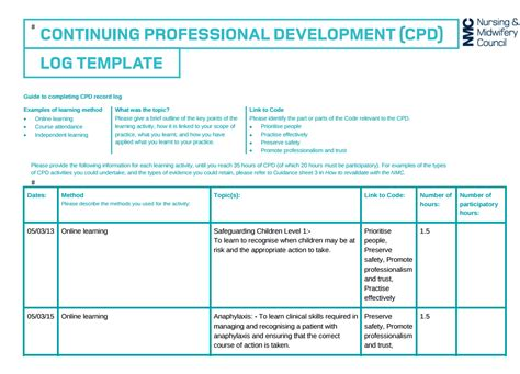 business template nhs fantastic professional development portfolio template