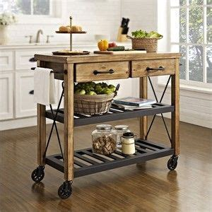 Rustic Kitchen Cart. Think French wine country.   Kitchen