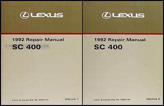 car repair manuals download 1994 lexus sc user handbook 1992 lexus sc 400 300 owners manual original