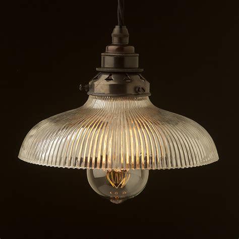 pendant light shades holophane glass dish light shade pendant