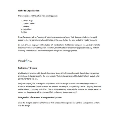 template web design proposal template word print by creation for