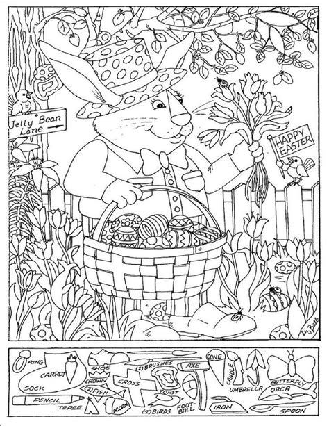 printable hidden pictures for easter 164 best holiday easter bunny eggs coloring art print