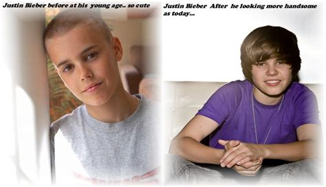 bieber haircut before and after the gallery for gt celebrities before and after puberty