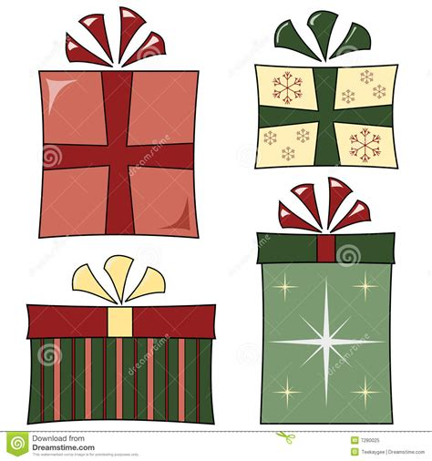 funky christmas gifts royalty free stock photo image