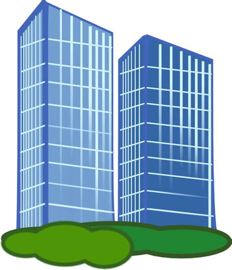 building clipart pair of apartment buildings clip at clker vector