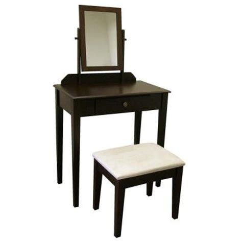 Espresso Bedroom Vanity by Home Decorators Collection Espresso Bedroom Vanity With