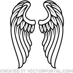 Simple Wing Outline by Wings Outline Vector Clip At Vectorportal