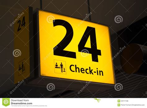 check in desk sign check in 24 stock photo image 53111196
