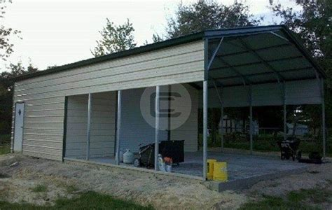 Metal Carport With Storage Shed Metal Buildings Prefabricated Steel Buildings And Structures