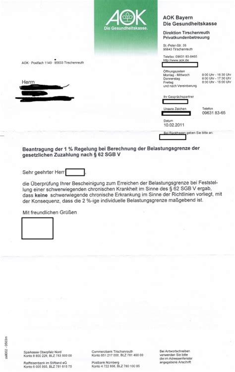 Vorlage Antrag Auf Kostenübernahme Krankenkasse Bescheinigung Chronisch Krank Gt Aok Abgelehnt Erwerbslosen Forum Deutschland Elo Forum